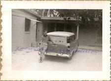 Young Man 1955 Chevy Townsman 210 Station Wagon Tennessee License Plate Photo