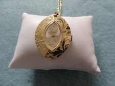 Mechanical Necklace Pendant Watch Swiss Made Endura Wind Up