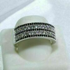 1.70Ct Round Diamond Mens Eternity Engagement Ring Pinky Band 14K White Gold Fin