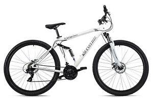 "Mountainbike Twentyniner Fully 29"" MTB Triptychon Weiß 21-Gänge 260M"