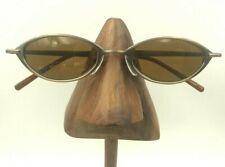 Vintage Kata Cosmo Brinze Metal Oval Eyeglasses Sunglasses Frames Japan