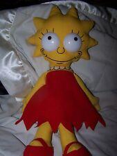 LISA SIMPSON The Simpsons 1990 Vintage Plush Stuffed Doll RARE EYES