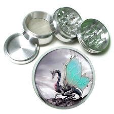 "2.5"" 4PC Aluminum Sifter Magnetic Herb Grinder Dragon Design-001 Custom"