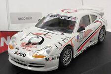 NINCO 50210 PORSCHE 911 GT3 MOBIL 1 NEW 1/32 SLOT CAR IN DISPLAY CASE