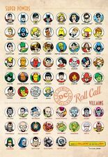 DC PRINT - SUPER POWERS ROLL CALL - HEROES & VILLAINS PIN UP POSTER