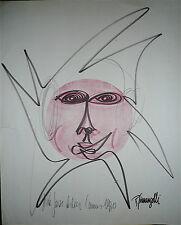 Giuliani Gianangelli Gilbert encre signée dédicace 1970 Gian Antibes dessin