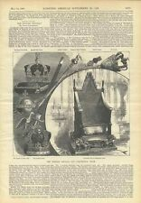 1898 English Crown Jewels Regalia Coronation Chair Royalty Illustrated Article