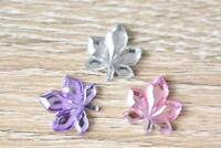 Leaf3 Leaves Multicolour 15x15mm 30pcs Acrylic Pearl Resin Jewel