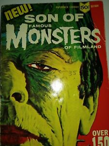 SON OF FAMOUS MONSTERS OF FILMLAND PAPERBACK 6.0 1ST PRINT 1965 VINTAGE HORROR