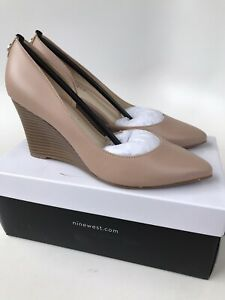 Nine West Womens Ciarra Wedge Pump Size 7M Leather