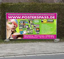 Werbebanner Werbeplane PVC-Plane Banner, versch. Größen 510g inkl. Druck u. Ösen