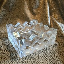 Vintage Lalique Crystal Cigar Ashtray Smoking Tobacciana  Art Deco Style