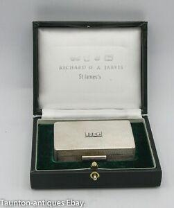 Gallagher J.J.G tobacco snuff pill box solid sterling 925 silver 2004 84.8 g