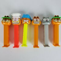 Vintage Pez Dispensers Mixed Lot of 6 Garfield