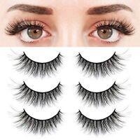5 Pair 3D Natural Bushy Cross False Eyelashes Mink Hair Eye Lashes Makeup Tool
