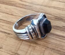 Sterling Silver .925 Black Onyx Ring NWT - Size 6