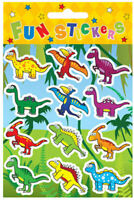 6 Dinosaur Sticker Sheets - Pinata Toy Loot/Party Bag Fillers Wedding/Kids