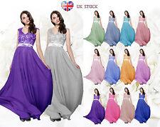 Graceful Lace Back Sleeveless Chiffon Bridesmaid/Party/Evening Dresses UK-DUSJ