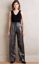 NEW Rachel Antonoff Shimmered Linen Trousers Dress Pants Size 12