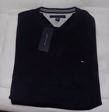NWT MENS TOMMY HILFIGER CREW SWEATER~NAVY~SZ LRG