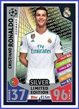 Match Attax Champions League 2017 2018 Topps CRISTIANO RONALDO Limited Edition