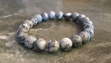 Essential Oil Diffuser Lava Rock Aromatherapy Jasper Stretch Bracelet Gray