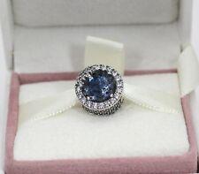 AUTHENTIC PANDORA Dazzling Snowflake Charm, Twilight Blue Cry, 796358NTB   #1084
