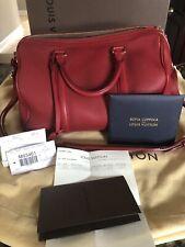 Louis Vuitton Sofia Coppola PM Speedy Handbag Cherry Red Calf Leather Gold HW