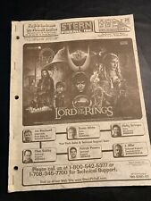 New listing The Lord of the Rings - Stern - Pinball Manual - Instructions - Used Copy