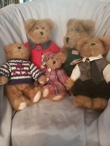 boyds bears plush lot 5 in great shape