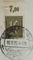 Infla 10Pf Ziffer 1921 WZ 1 Oberrand Mi.Nr:159 P Sonderstempel
