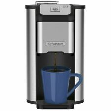 Cuisinart Single Cup Grind & Brew Coffee Maker w/ Water Filter, Stainless Steel