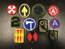Lot of 11 Various U.S. Military / Army patches & insignia, A+ original NEW, 11