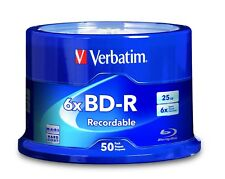 Verbatim 98397 BD-R 25GB 6X with Branded Surface - 50pk Spindle - 120mm BRANDED