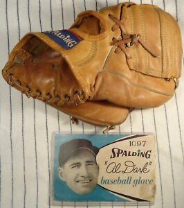 1950's Al Dark Spalding 1097 glove w/RARE matching glove box label, NY Giants