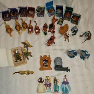 Vintage 90's Disney Happy Meal Toys Lion King Robin Hood Merlin Gargoyle Barbie