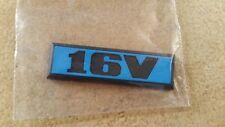 VW Golf 2 Heckemblem 16V blau GTI Tuning Limited Edition Emblem One Blue Fire