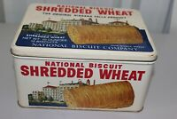 Vintage Collectible NABISCO National Biscuit Company Shredded Wheat Tin