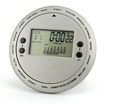 New! Hand-Held World Time Calendar/ Temperature LCD Display Table Clock-889-839