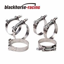 "6PC For 2-1/8'' Hose (2.36""-2.68"") 301 Stainless Steel T Bolt Clamps 60mm-68mm"