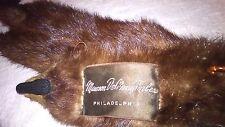 Mink Fur Wrap Shawl 4 pelts Head Face & Feet Mawson DeMany Forbes Philadelphia