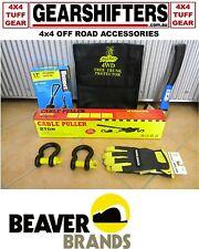 Black Rat Tuff Gear 4WD 4X4 Off Road Survival Kit Snatch Strap Axe 20 Piece New