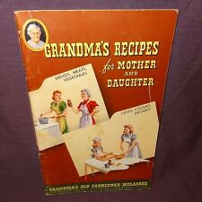 Grandma's Recipes for Mother Daughter Cookbook Booklet 1950 Molasses Old Fashion