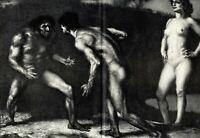 Kampf um das Weib XXL Kunstdruck 1905 von Franz Stuck weiblicher Akt männlicher