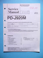 Service Manual für Pioneer  PD-J920M,ORIGINAL