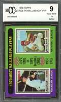 Boog Powell / Johnny Bench Card 1975 Topps #208 Mvp Cincinnati Reds BGS BCCG 9