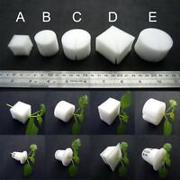25/100X White Clone Cloning Collar Foam Insert Hydroponic Root Guard Mesh Pot