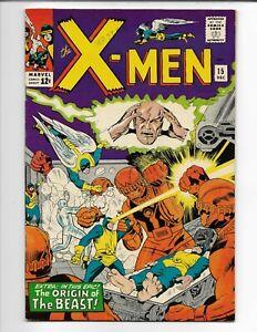 X-MEN #15--PGX 9.2 OW/W PGS. (RESTORED)--2ND APP. OF SENTINELS !