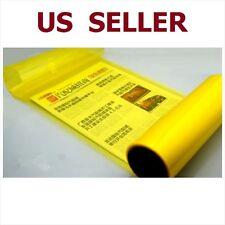 "12"" x 48"" Car Tint Headlight Taillight Fog Light Vinyl Smoke Film Sheet Yellow"