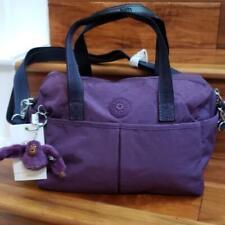 New w Tag  Kipling GIANNA Satchel/crossbody bag Purple Verbena Novelty Web